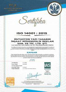 14001 çevre yönetim sistemi belgesi